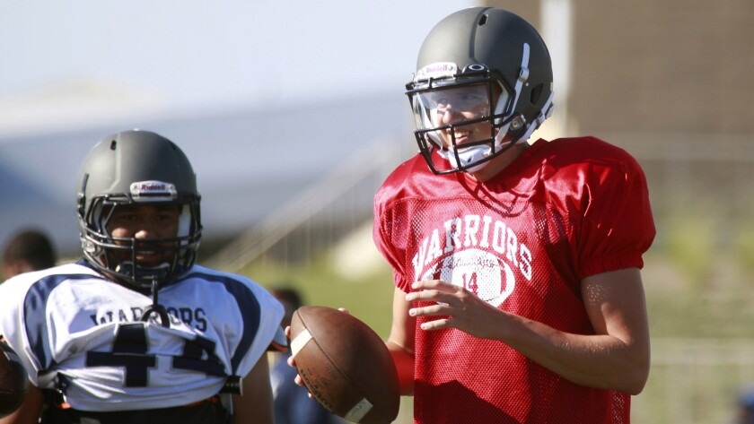 Former USC recruit David Sills transferred from West Virginia to El Camino College in Torrance.