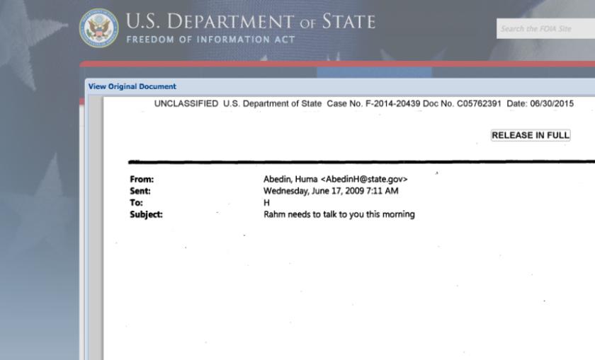 Ejemplo de uno de los correos electrónicos.