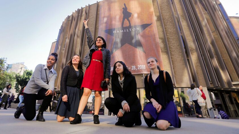 SAN DIEGO, CA 1/11/2018: San Ysidro High School 11th graders, Denita Wiggins, left, Selena Ramirez,