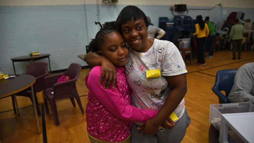 Jessup, MD--11/18/17Girl Scouts Beyond Bars program brings young girls into prison so they can spend
