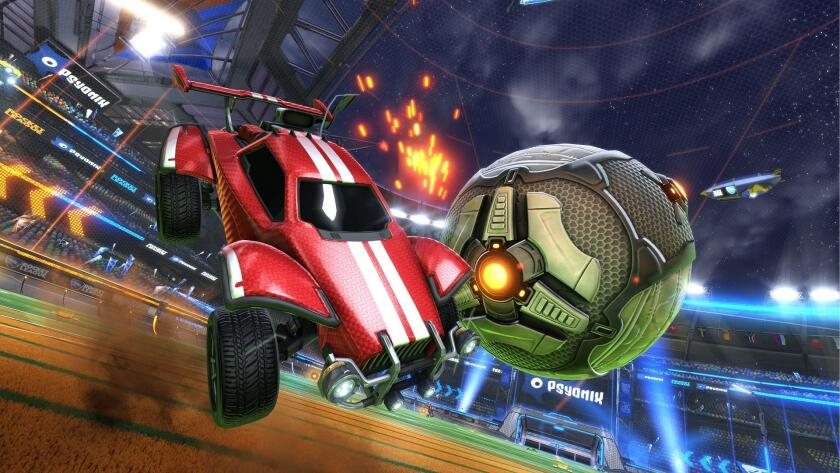 "The Psyonix hit game ""Rocket League"" features race cars that play soccer."