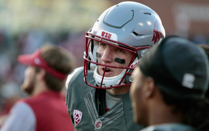 Washington State quarterback Tyler Hilinski looks on during a game against Arizona in November 2016.