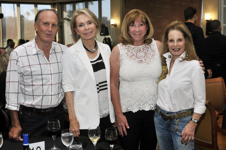 Larry and Linda Alessio, Louise Nobel, June Feldman