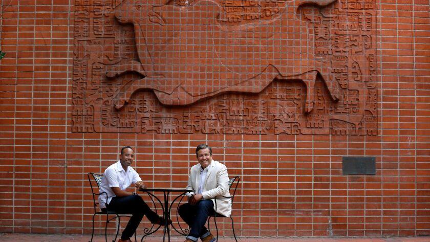 POMONA, CA AUGUST 15, 2017: Portrait of Lucas Rivera, left, is Senior Vice President of Fairplex