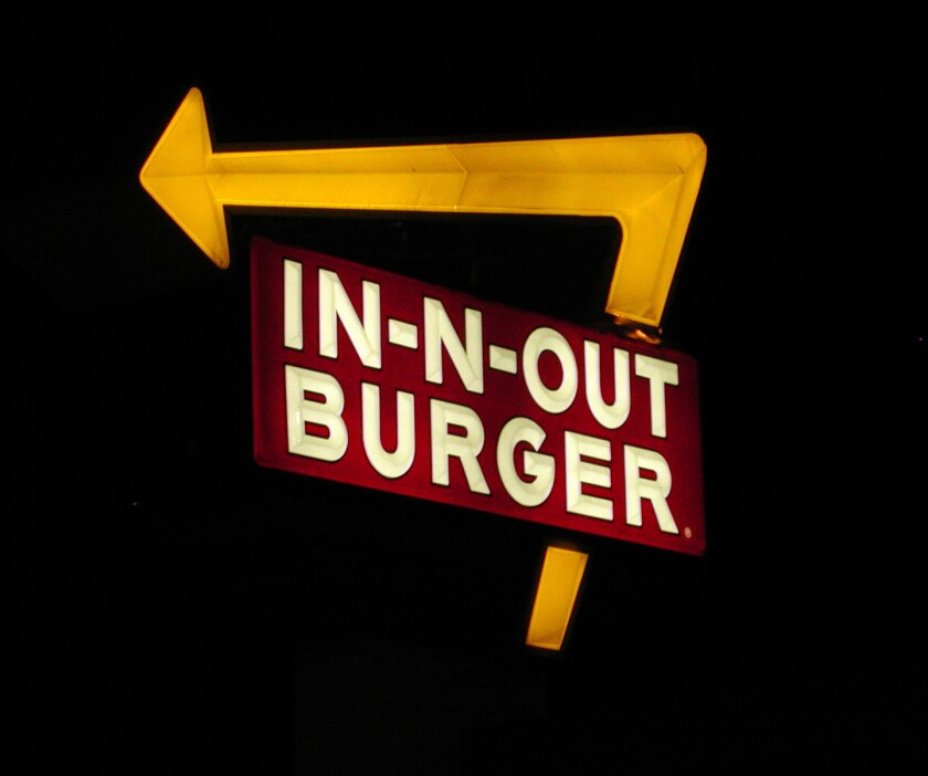 In-N-Out Burger may have the biggest cult following of all burger chains. (Robbin Goddard)
