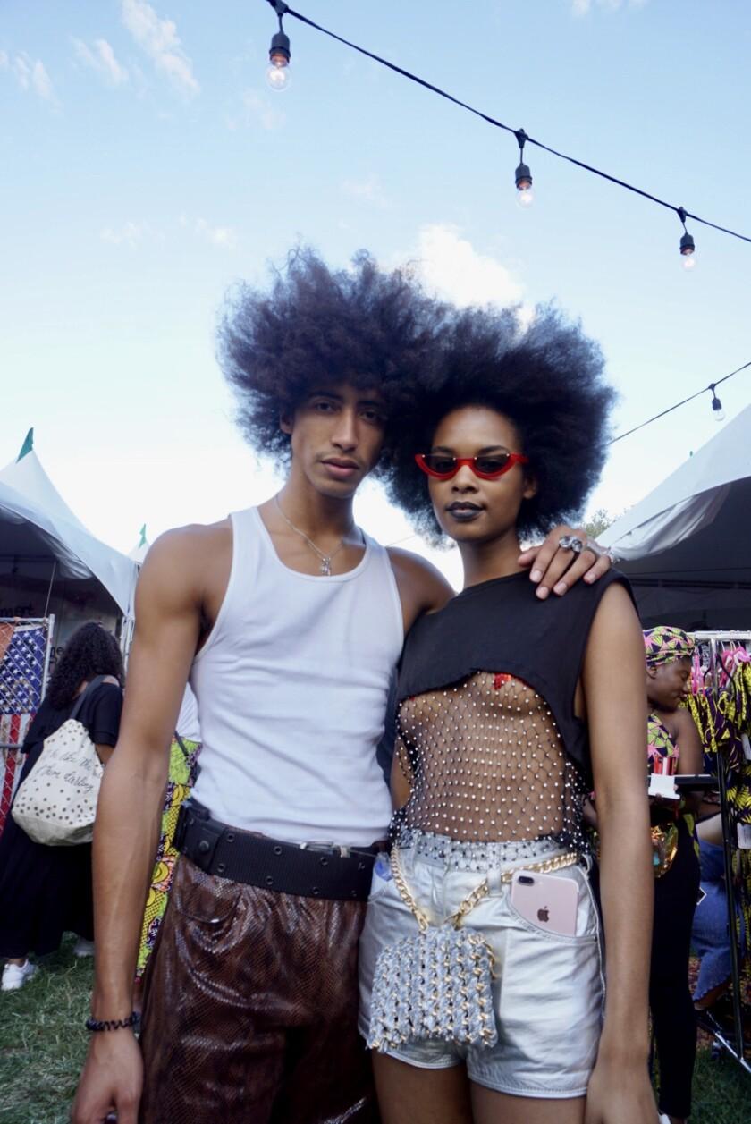 Noah Domond and Sharahya Carter at Afropunk in Brooklyn, N.Y.