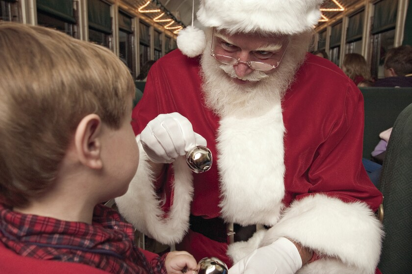 Santa Claus appears on the Grand Canyon Railway Polar Express from early November through Jan. 3.