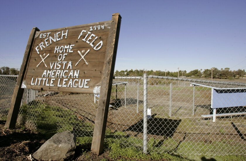 The French Field complext of fields sits unused due to contaminated soil. Supporters would like to revive the park.
