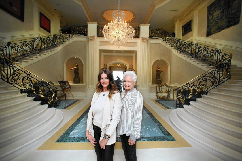 Stacy Gottula and Joyce Rey are marketing the $195-million Palazzo di Amore property in Beverly Hills.