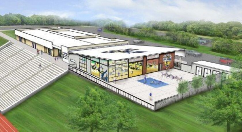 Rendering of the new Spanos Athletic Performance Center. Courtesy