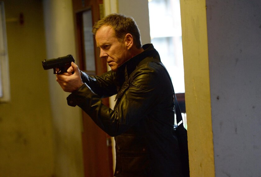 """Kiefer Sutherland, star of """"24,"""" is hitting the road as a musician."""