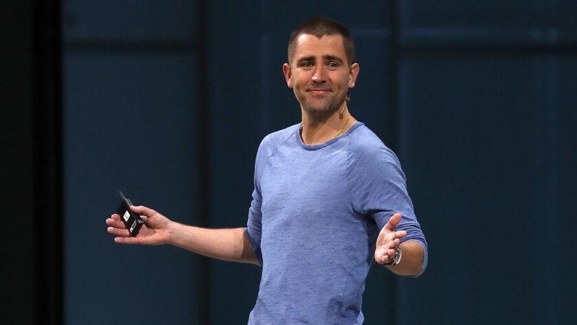Chris Cox speaks at Facebook's F8 developer conference in 2018.