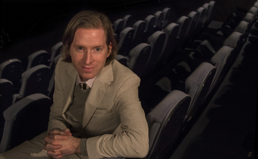 Wes Anderson at the Egyptian Theatre in Hollywood on Feb. 9, 2015.