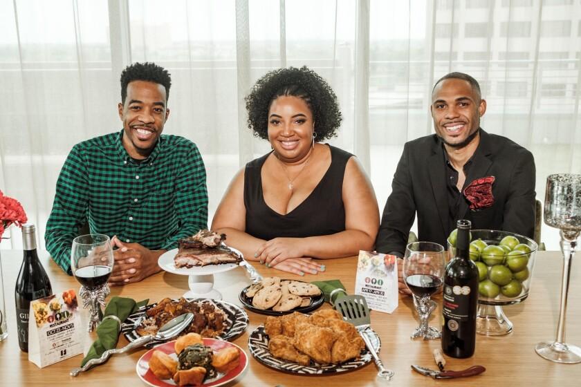 Black Restaurant Week cofounders Derek Robinson, left, Falayn Ferell and Warren Luckett.