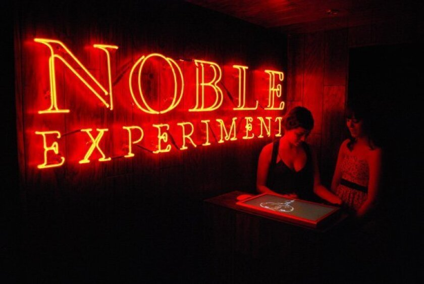 Noble Experiment is located at 777 G St. in downtown San Diego, hidden inside the restaurant Neighborhood.