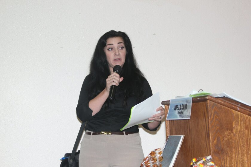 Chelsea Graue, representing the San Diego Vacation Rental Managers Alliance, said Carlsbad City Attorney Celia Brewer told her Carlsbad is supporting regulations for short-term rentals in lieu of an outright ban. 'A ban would not be supported due to legal implications and litigation regarding prope