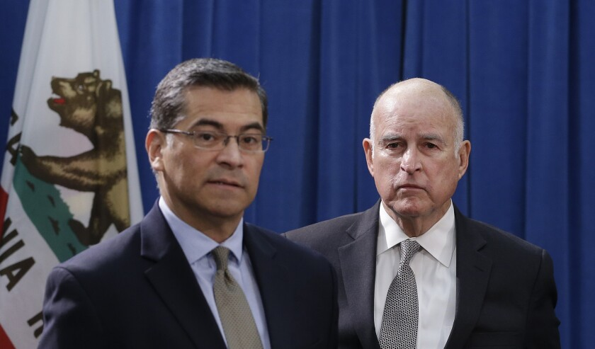 Xavier Becerra, Jerry Brown