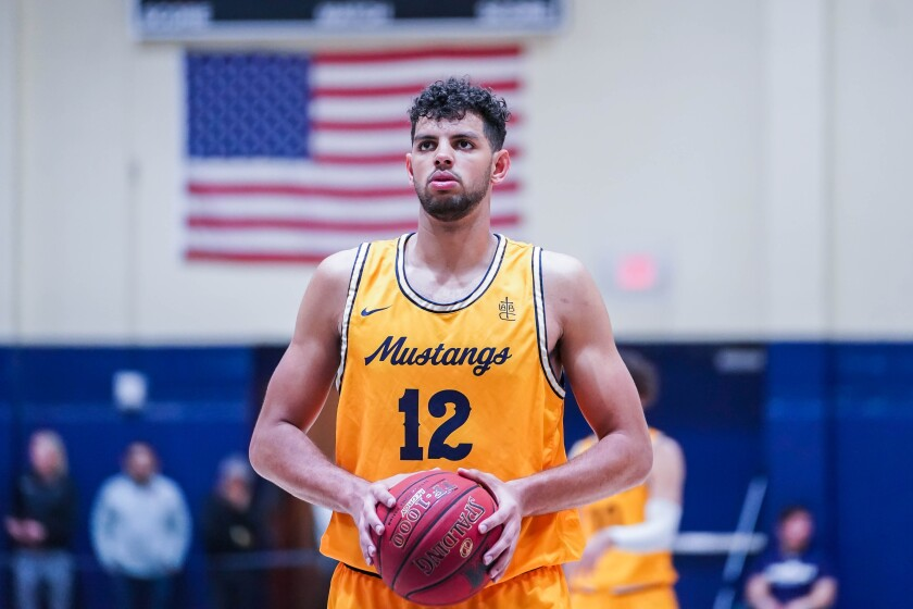Tim Soares of The Master's College basketball team. He was a second-team All-American.