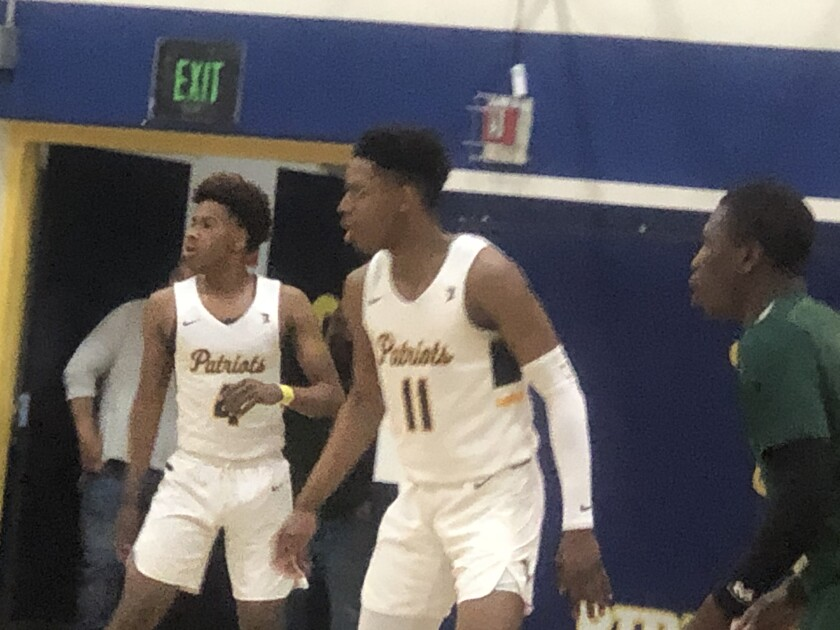 Corey Cofield (11) scored 23 points for Birmingham in 70-58 Open Division playoff win over Gardena.