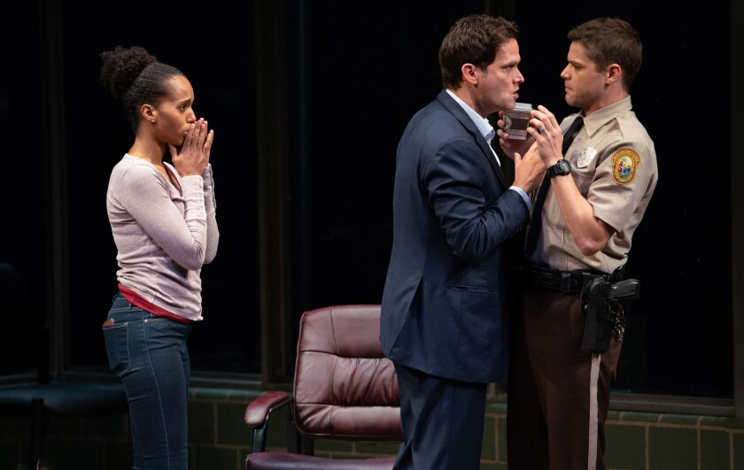 Kerry Washington, Steven Pasquale and Jeremy Jordan reprise their onstage roles in the Netflix film.