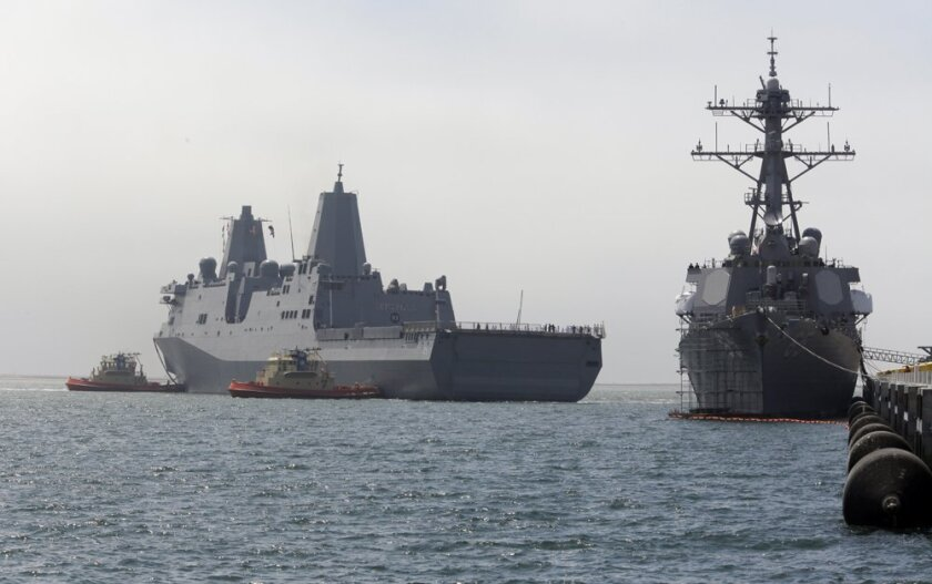 The ninth amphibious transport dock Somerset, home-ported in San Diego, has ordered its crew to remain on board as local Navy COVID-19 cases soar.