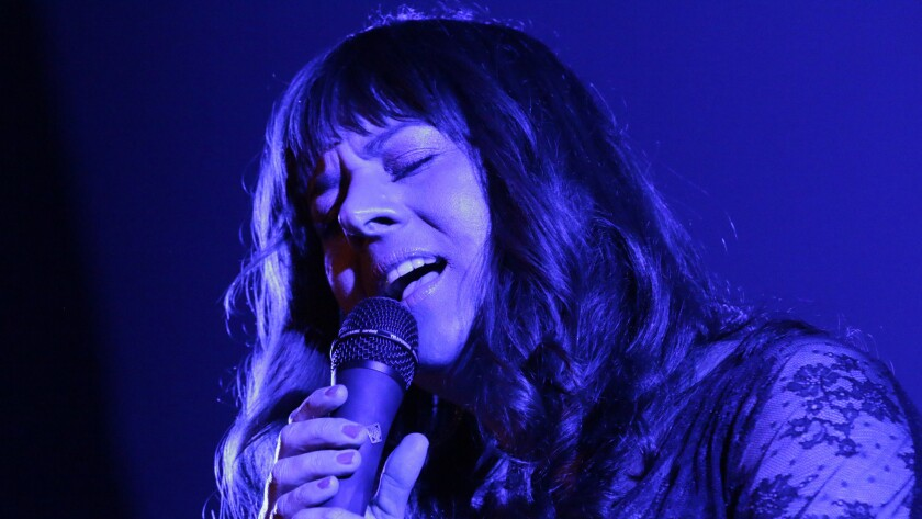 Rumer performs Thursday night at the Masonic Lodge at Hollywood Forever Cemetery in Los Angeles.