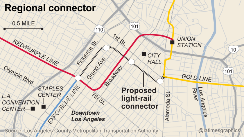 La Subway Map Year.Costs And Delays Mount For Downtown L A Subway Link Los Angeles Times
