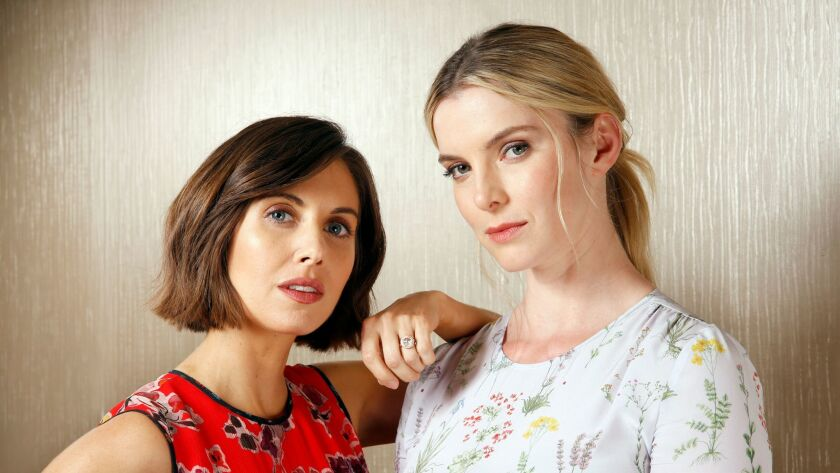 NEW YORK, NEW YORK--MAY 9, 2017--Actors Alison Brie and Betty Gilpin star in the upcoming Netflix co