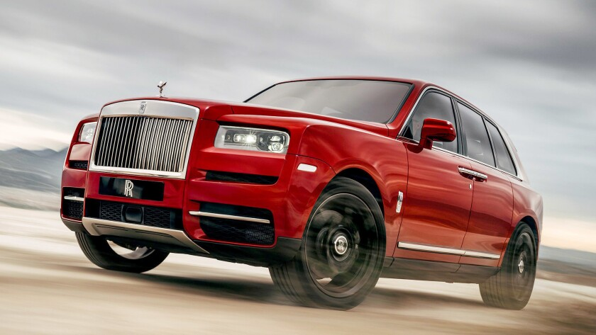 The 2019 Rolls-Royce Cullinan is 17.5 feet long, 7 feet wide and more than 6 feet tall, with a hood long enough to contain a V-12 engine.
