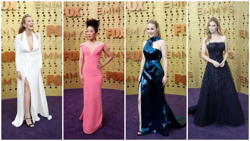 Shoulder-baring style at the 2019 Emmy Awards on September 22, 2019
