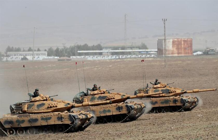 """Estados Unidos calificó hoy de """"legitimas"""" las preocupaciones expresadas en los últimos días por Turquía ante la presencia de milicias kurdas en la región de Afrin, situada en el extremo noroeste de Siria, que llevó a Ankara a ordenar una ofensiva militar en la zona el pasado sábado. EFE/Archivo"""