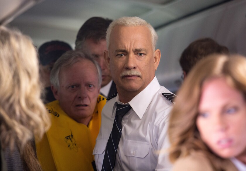 """Tom Hanks stars as pilot Capt. Chesley B. """"Sully"""" Sullenberger in the Clint Eastwood-directed drama """"Sully."""""""