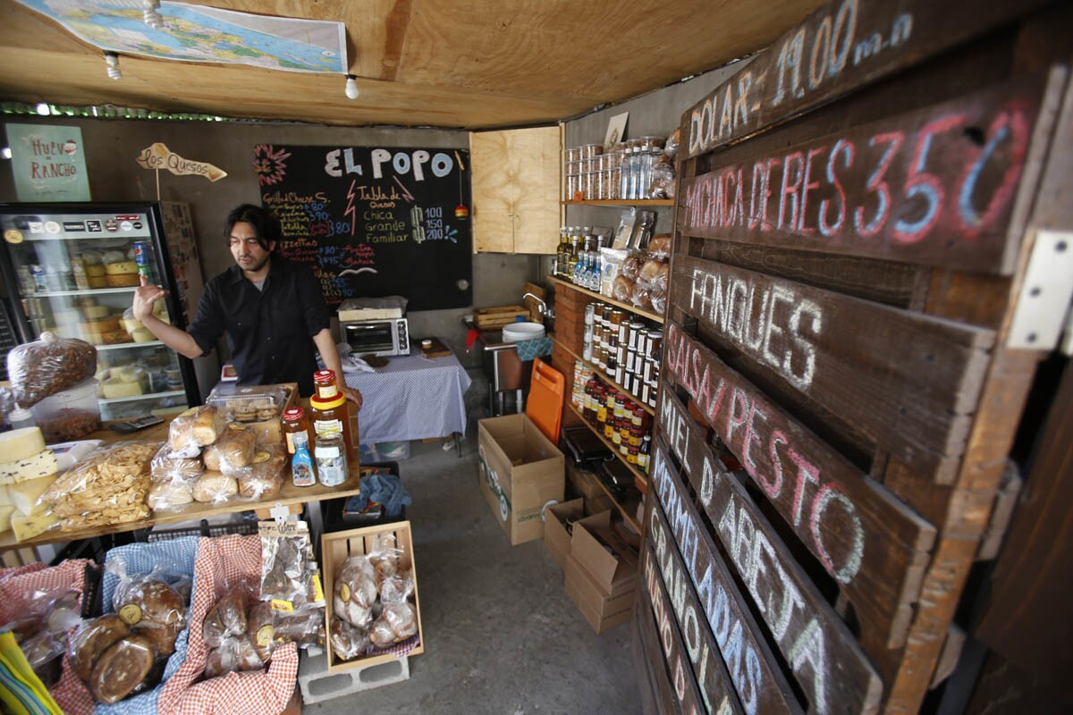 Tijuana, Baja California, Mexico, March 17th, 2017: | Various locations of Tijuana for PACIFIC. Telefonica Gastro Park, mentioned in New York's Times of best food Trucks in Tijuana. El Popo sells breads, cheeses and spices. | Alejandro Tamayo © The San Diego Union Tribune 2017