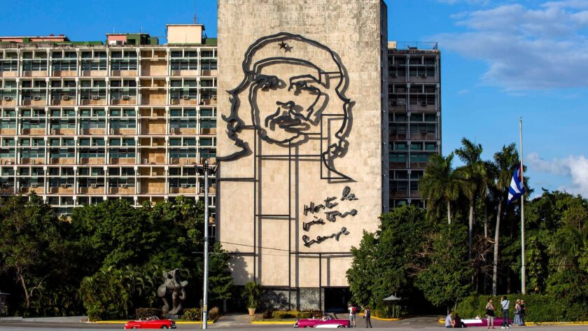 "FILE - This Nov. 27, 2016 file photo shows the iconic image of Cuba's revolutionary hero Ernesto ""Ch"