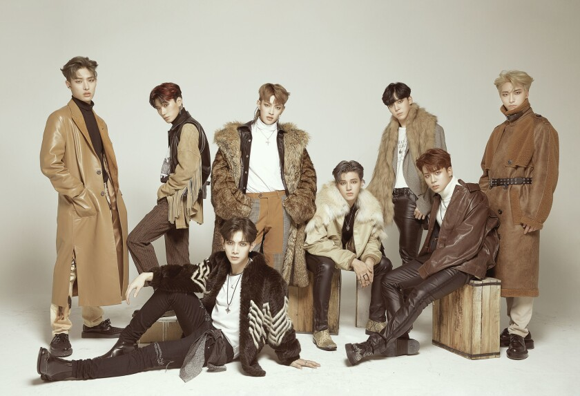 Times Square is one of the attractions that the group ATEEZ hopes to visit during their debut tour of the United States.
