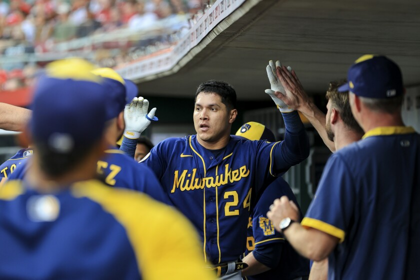 Adames drives in 4 as Brewers rally for 11-6 win over Reds - The San Diego  Union-Tribune