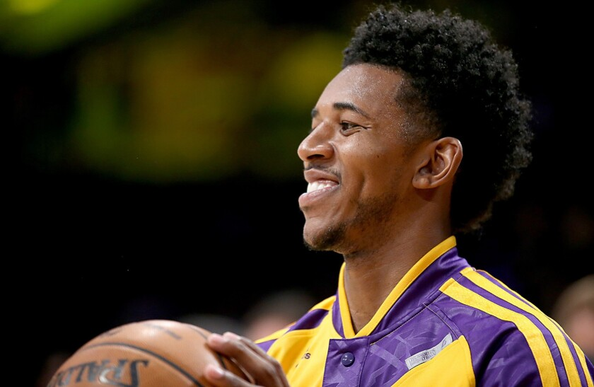 Nick Young will miss some time with a ligament tear in his right thumb.