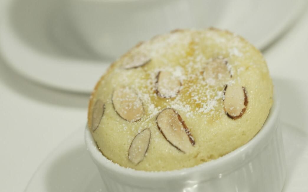 Quince and almond clafouti