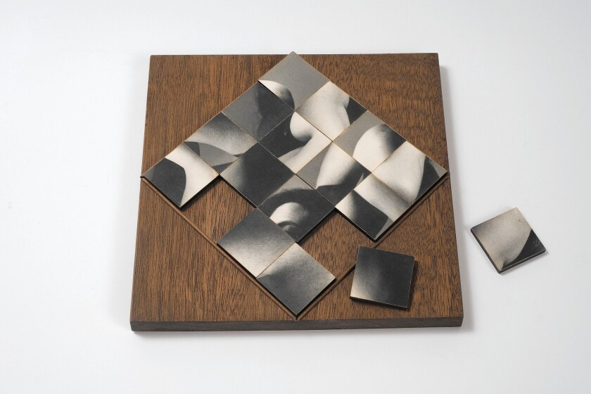 """Multiple Solution Puzzle"" is among works in the Hammer Museum's tribute to Robert Heinecken."