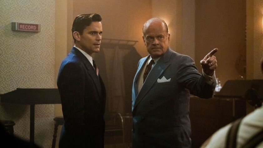 """Matt Bomer, left, and Kelsey Grammer play partners in the 1930s movie business in the Amazon series """"The Last Tycoon."""""""