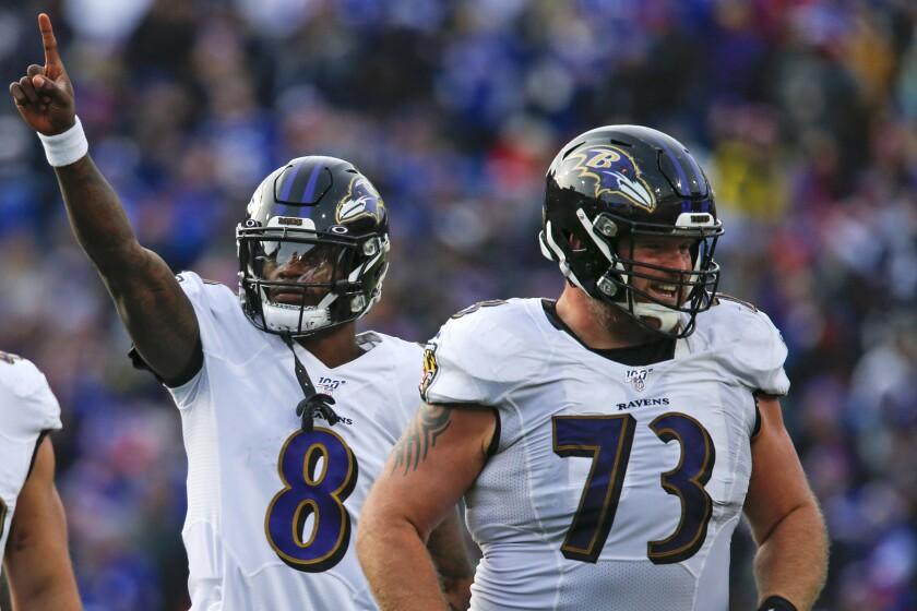 Ravens Protecting Lamar Football