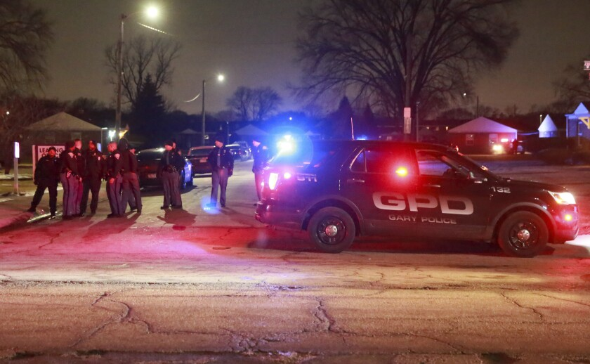 GARY POLICE OFFICERS WOUNDED