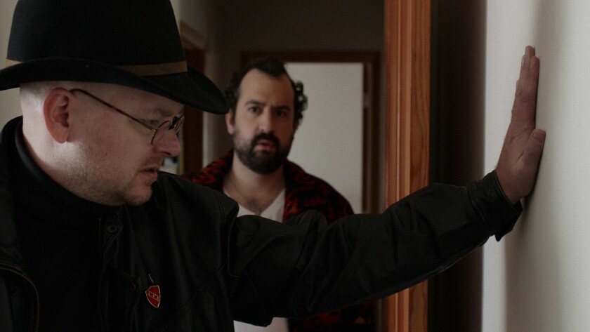 "Mark Proksch, left, and Steve Zissis in ""Another Evil."""