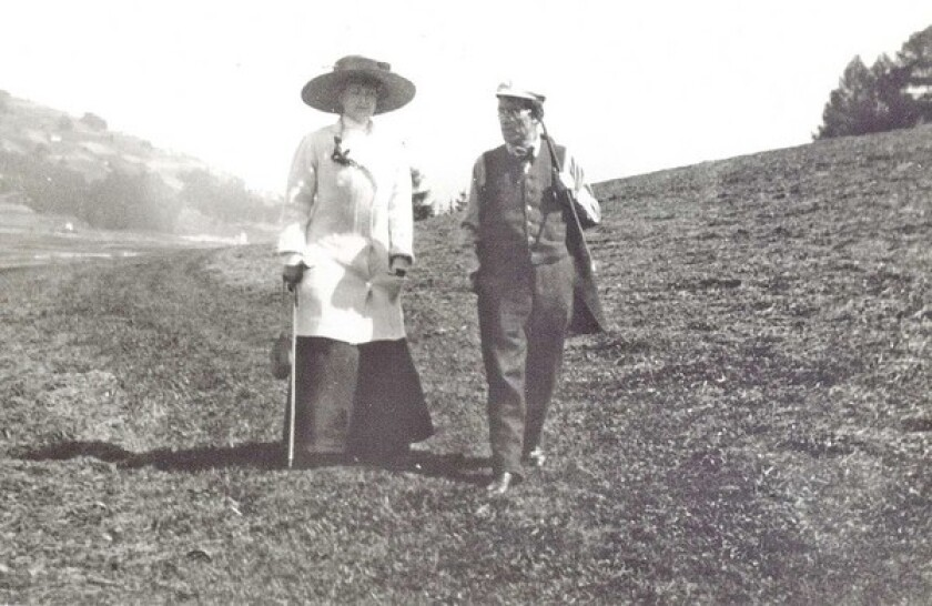 Gustav Mahler and his wife, Alma.