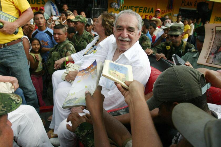 """Gabriel Garcia Marquez works, including """"Love in the Time of Cholera,"""" will be issued as e-books for the first time."""