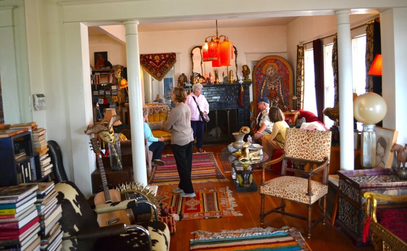 Visitors on the recent tour of the Derby House enjoyed browsing its unique furnishings, gathered from all over the world.