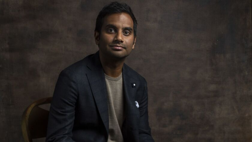 "HOLLYWOOD, CA --MARCH 21, 2019 -- Actor Aziz Ansari, who played Tom Haverford, on NBC's ""Parks and R"