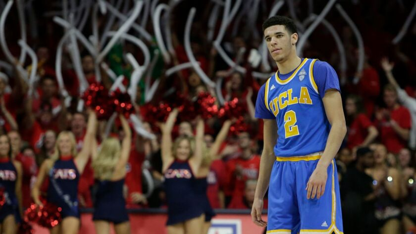 UCLA freshman guard Lonzo Ball is expected to be a top-three pick in the NBA draft this summer.