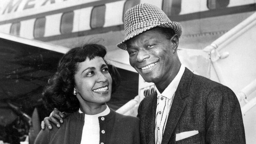 """Nat """"King"""" Cole and his wife, Maria, in 1959."""
