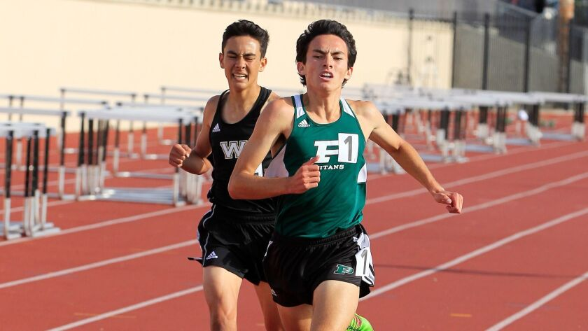 Jarett Chinn of Poway won the boys 1,600 meters in 4:15.27, but he was looking for a lower time.